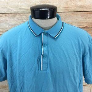 Hugo Boss Polo Shirt Modern Fit XL Blue Teal